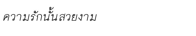 Preview of ChulaNarak Italic