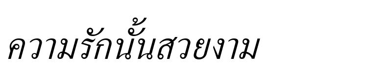 Preview of Kinnari Italic