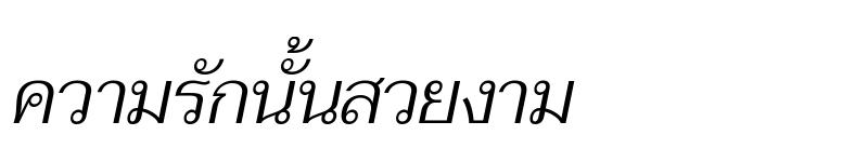 Preview of Taviraj Light Italic