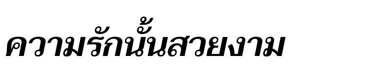 Preview of Taviraj SemiBold Italic