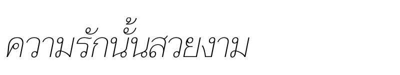 Preview of Taviraj Thin Italic