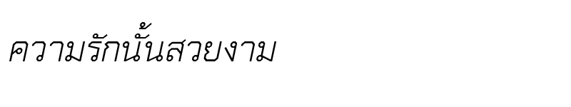 Preview of TH Chakra Petch Italic