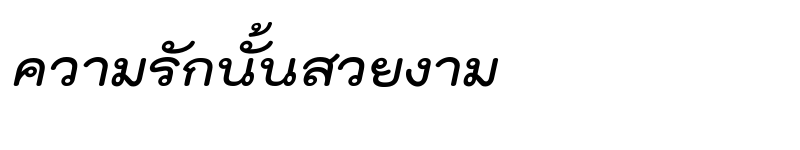 Preview of TH Kodchasal Bold Italic