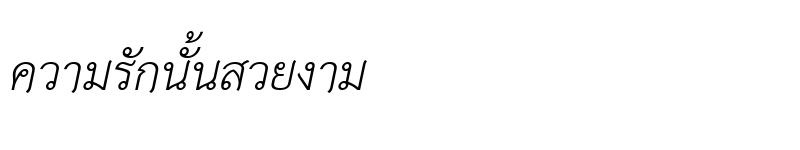 Preview of TH Sarabun New Italic